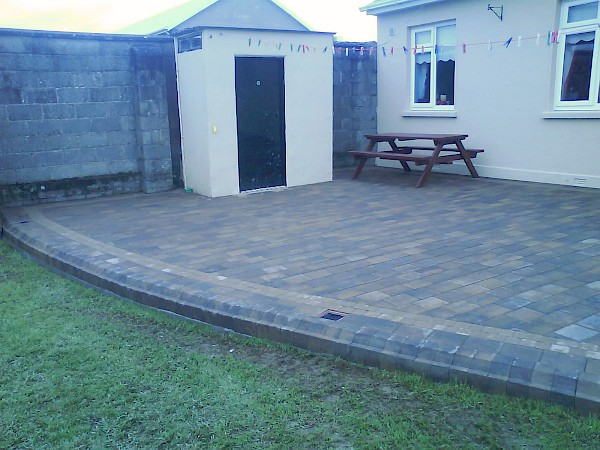 Patio at Dowdallshill Dundalk - After
