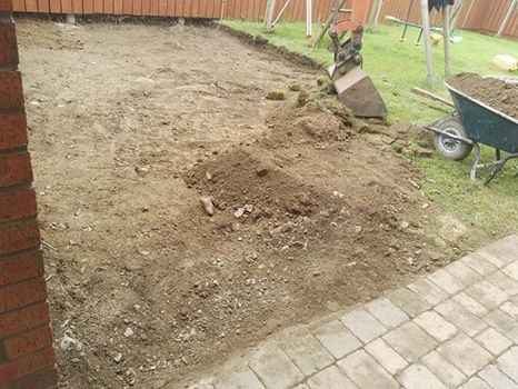 Patio in Priorland Dundalk, Co Louth - Before