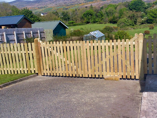Fencing with gate - After